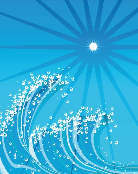 Waves: Waves drawn in illustrator