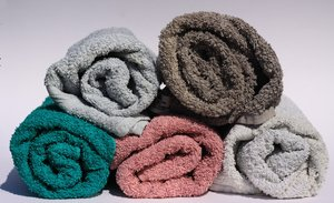 Towels: Rolled towels