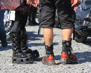 Special shoes: Fashion at the bikers scene