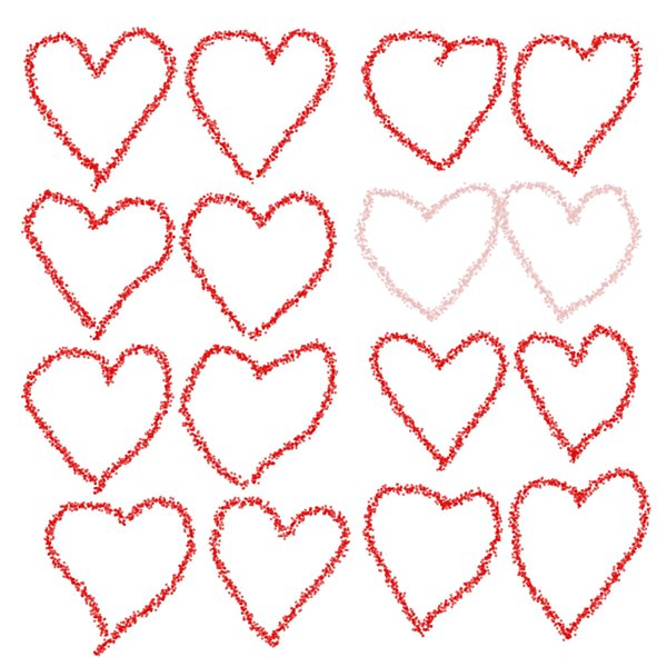 Hearts: A lot of hearts to give to someone