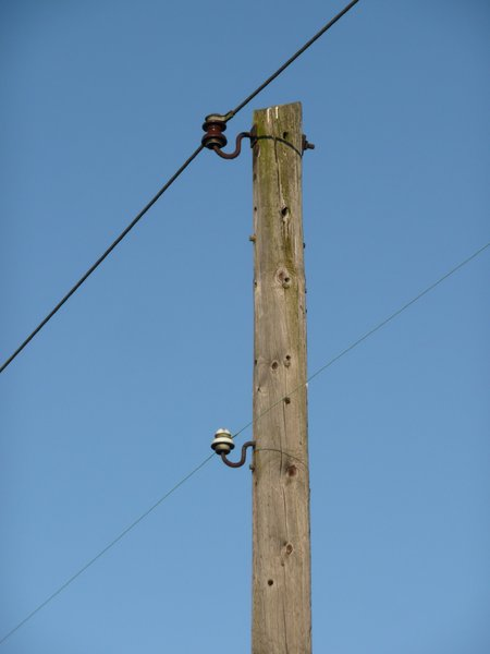Vintage Power Pole: Old power stack