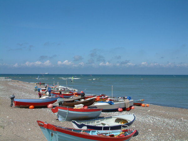 Rowing boats on the beach: Life at the beach