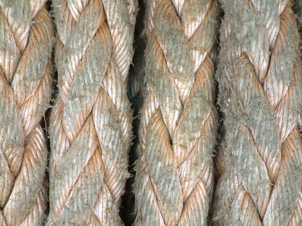 Rope: Ship's ropes, close up,