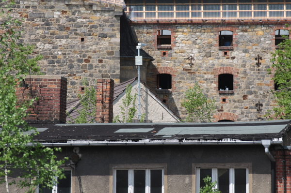 Old Factory 2: Wall and windows of an old factory with modern elements