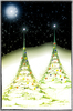 Fractal Christmas trees: Couple of Christmas trees made with fractals. Large enough for 6x4