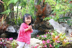 daughter: daughter, baby, girl, pretty, asian, garden, pink, smile, happy