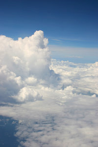 clouds: these are, i hope, distinctive, because they were shot from above instead of the usual cloud shots from below...