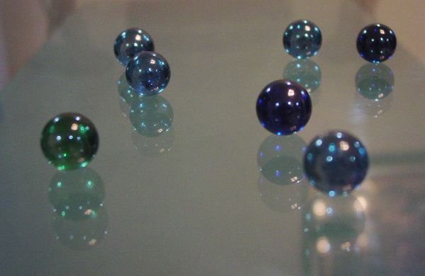 marbles attack 2: just an experiment with glass and reflections.
