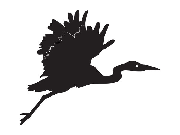 Silhouette Heron Flying: another old photograph of me turn to different use