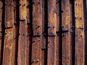 Stave church, Detail: A detail of an old stave church in Kvikne/Norway