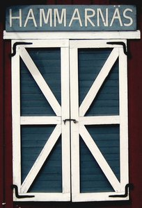 boathouse door: a fine door of a boathouse at the seaside