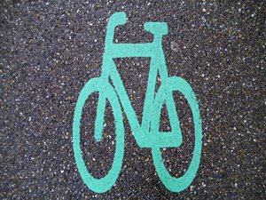 bicycle: Sign of a bicycle on astreet