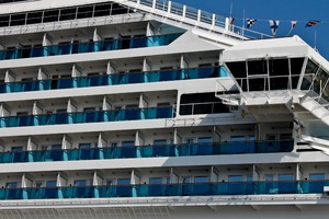 vacation: Detail of a cruise liner