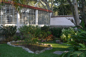 A quiet corner in the garden.: A quiet corner in a family house in Guatemala.