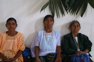 Old indian women: Old indian women from the qeqchi etnia in Carcha, Guatemala.