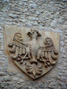 Coat of arm 2: Coat of arm of medieval Poland from St. Florian Gate in Krakow