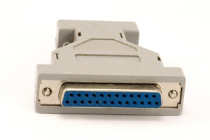 Switch from COM port to parall: Computer connector or switch COM port to parallel port