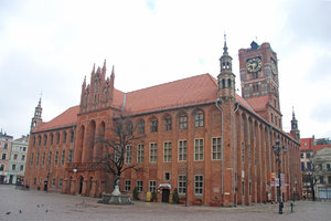 Medieval town hall in Torun: City hall in Thorn, Poland. Now museum