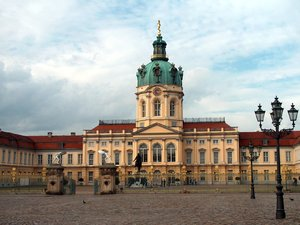Charlottenburg palace in Berli: Largest existing palace in Berlin constructed in the Italian Baroque style by the architect Arnold Nering commissioned by Sophie Charlotte, the wife of Friedrich III, Elector of Brandenburg