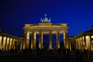 Brandenburg Gate at night 1: Symbol of Berlin from classicism times