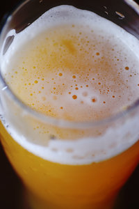 Wheat-germs in the growler 5: Misty beer with foam