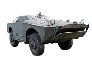 Amphibious Armoured Scout Car: BRDM ( literally Combat Reconnaissance/Patrol Vehicle) was an amphibious armored scout car used by Russia and the former Soviet Union