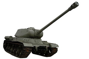 Soviet heavy tank from World W: Soviet tank Iosef Stalin 2 (IS 2)