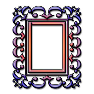 Baroque frame 4: Stylised picture frame