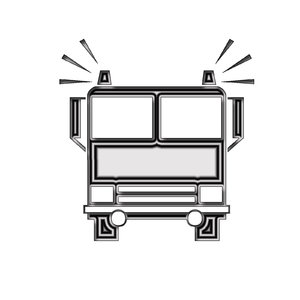 Firefighters pictogram 2: Fire truck icon