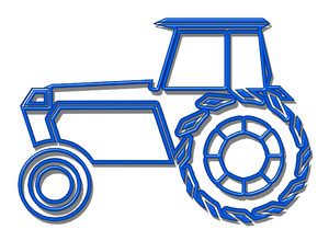 Tractor pictogram 4: A tractor is a vehicle specifically designed to deliver a high tractive effort at slow speeds, for the purposes of hauling a trailer or machinery used in agriculture or construction.