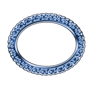 Horizontal oval frame 2: Decorative oval frame for painting or photo