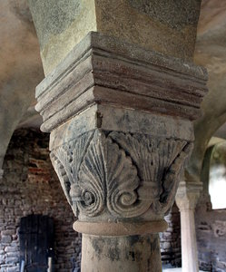 Romanesque capital Ilsenburg: Benedictine monastery in Ilsenburg, Germany was built on land given for the purpose in 1003 by Emperor Henry III to the Bishop of Halberstadt, and had been founded by 1009. In 1525 it was stormed, plundered and largely demolished by rebellious peasants; t