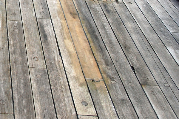Old sail deck pattern: woodden deck of polish sail