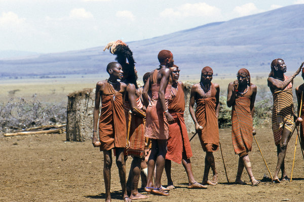 People from Maasai tribe 1: The Maasai are an indigenous African ethnic group of semi-nomadic people located in Kenya and northern Tanzania. Due to their distinctive customs and dress and residence near the many game parks of East Africa, they are among the most well known of Africa