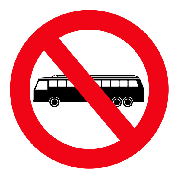 Sign of suppression  5: Bus prohibited sign