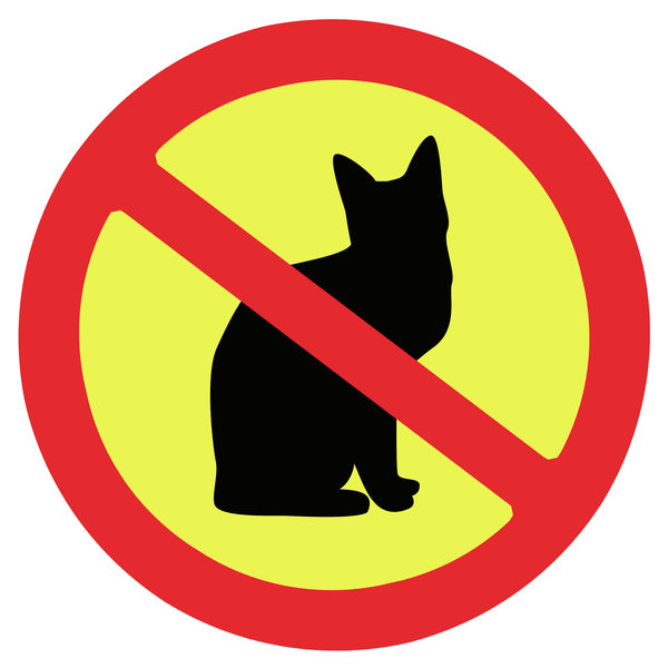 Prohibition sign 3: No cats