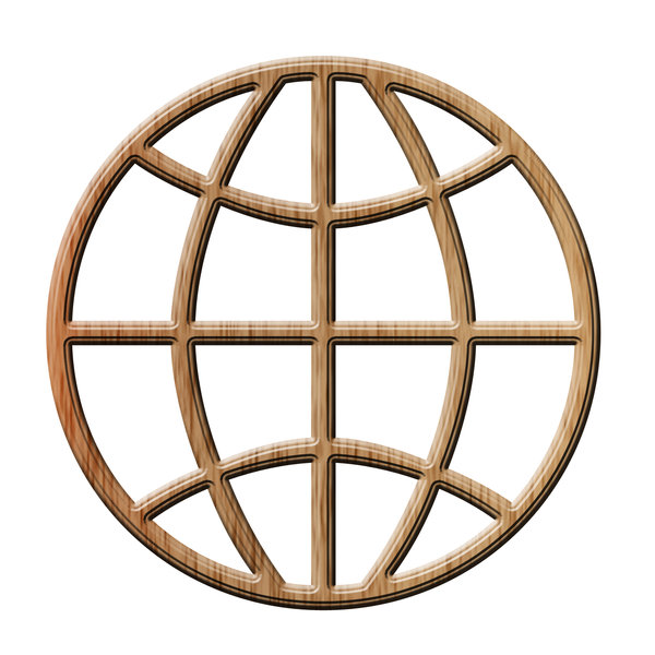 Globe symbol 5: Earth shape