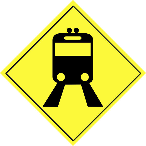 Traffic warning sign  7: Road sign