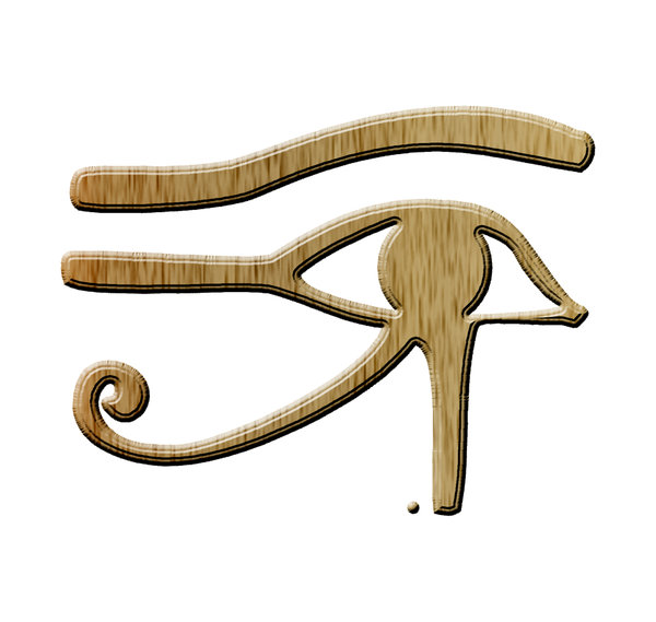 Ancient egyptian sign 1: The Eye of Horus (Wedjat, previously Wadjet and the Eye of the Moon; and afterwards as The Eye of Ra) is an ancient Egyptian symbol of protection and royal power from deities, in this case from Horus or Ra.
