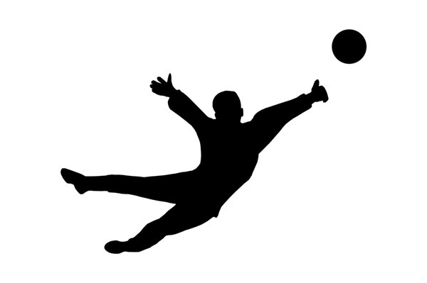 Goalkeeper from football 4: Soccer player silhouette