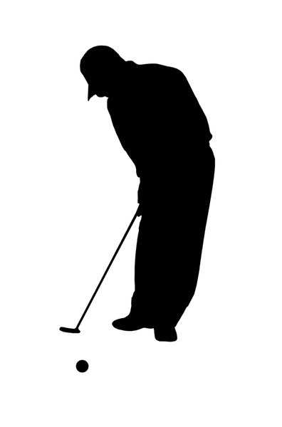 Golf player 4: Silhouette of golfer