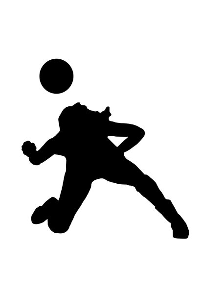 Volleyball 1: Silhouette of playing girl