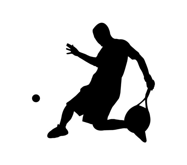Tennis 2: Silhouette of player