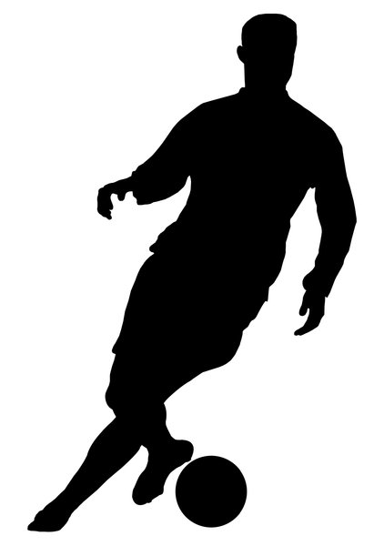 Football 4: Silhouette of soccer player