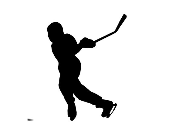 Hockey 5: Silhouette of player