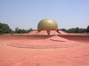 Pondicherry escapade 3: The matrimandir (temple of the mother) at the international city of Auroville, Pondicherry, South India.