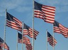 Stars and Stripes: American flags