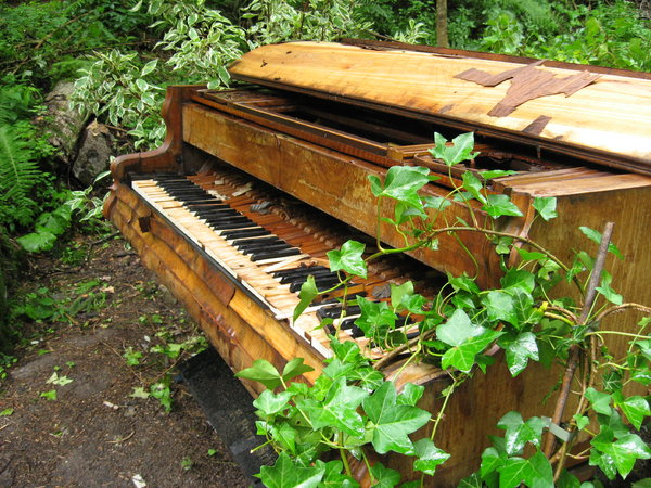 Piano in Decay: Grand piano left to the elements; near Millstatt, Austria