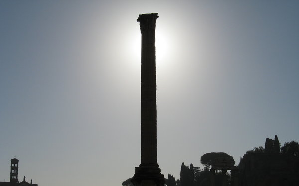 Roman Column: Column at Forum Romanum, Rome, Italy