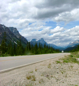 Travel in mountains: Taken in summer 2006 near Jasper, Canada.